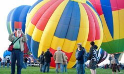 The annual Albuquerque International Balloon Fiesta draws participants and spectators from around the world.