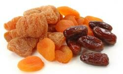 Dried apricots are a good source of iron.