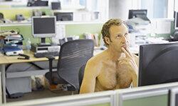 Man without shirt