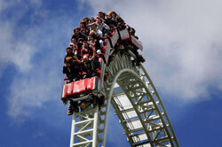 It's instinctual to raise your arms in excitement on a roller coaster, but this ride's home base, Thorpe Park in Surrey, England, has actually banned arm raising on hot days.