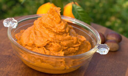 Mashed sweet potatoes are a treat for all ages.