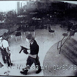 Much was made of Eric Harris (left) and Dylan Klebold's favorite (violent) movies and video games after the shootings.