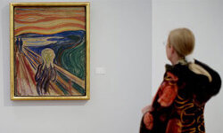 "Edvard Munch's painting ""The Scream"" on display at the Munch Museum."