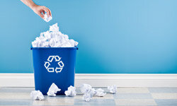 Make sure a recycling bin is nearby for everyone in the office.