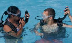 Scuba diving is a fun and exciting hobby you can pursue with your spouse.