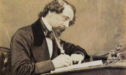 A photo of Charles Dickens (1812-1870), taken in the 1860s