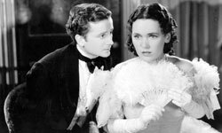 "Actors Frank Lawton and Maureen O'Sullivan play the young hero and his childlike wife, Dora, in a scene from the 1935 film ""David Copperfield,"" directed by George Cukor for MGM."