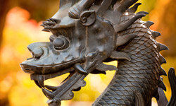 Dragon statues like this one, which stands outside the Summer Palace in Beijing, China, were likely part of the design inspiration for Mushu.