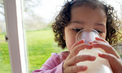 Make sure you're giving your little one milk that's been pasteurized.