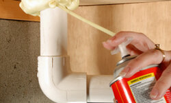 Applying caulk is simple enough that anyone can do it. See more home construction pictures.