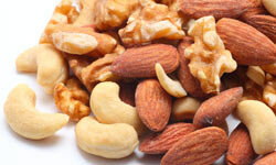 Basic food staples like nuts will provide a healthy dose of both protein and fat.