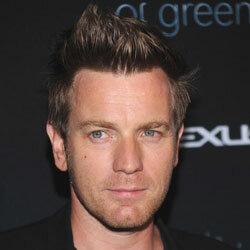 Actor Ewan McGrego sports a faux-hawk.