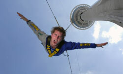 Jumpers from the Macau Tower in China accelerate to a top speed of 124.27 miles (220 kilometers) an hour.
