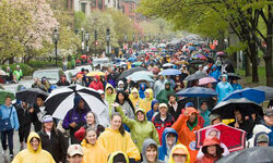 Supporters braved rainy weather to support Project Bread's 40th Walk for Hunger.