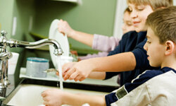 See if your kids will work together to get the dishes done (without breaking anything) in a short amount of time.