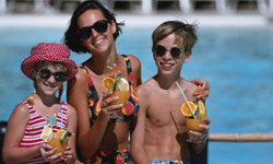 Many resorts these days are catering to family members of all ages.