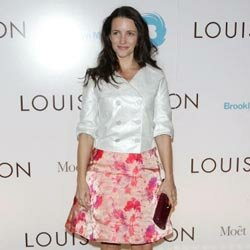 Kristin Davis shows off a cute A-line skirt at a Brooklyn Museum exhibition opening.