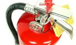Dry chemical fire extinguishers are the most common home extinguishers.