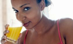 Folate, found in orange juice, can be boosted with supplements.