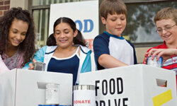 A food drive is a perfect activity for the whole family, so include your kids, too.