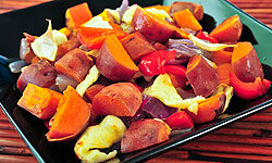 Sweet potatoes are practically a sweet, healthy dessert.