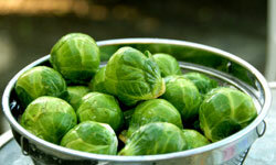 Brussels sprouts can taste crunchy and delicious with a little butter and garlic. Just don't cook them to death.