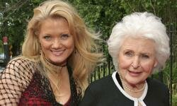 Actress Frances Reid and her grandaughter attend the Reception For The 31st Annual Daytime Emmy Awards. Reid has been with the show from the start.