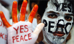 Students take part in a peace rally in Mumbai on Aug. 6, 2007, to mourn victims of the atomic bombing of Hiroshima in 1945.