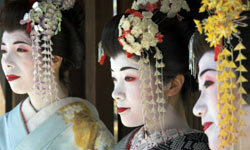 The makeup geishas once wore contained lead and zinc.