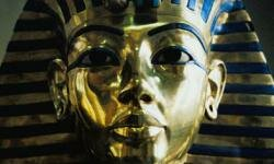 King Tut was buried with an exquisite mask.