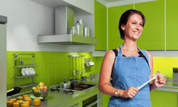 There is no requirement that you literally make your kitchen green. See more green living pictures.