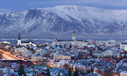 Reykjavik, Iceland has colorful rooftops and a green plan for power.