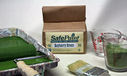 The Old Fashioned Milk Paint Co.'s Safe Paint is an excellent example of biodegradable paint.