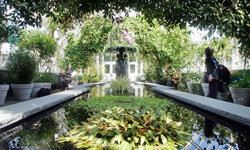 The New York Botanical Garden has two greenhouses on site. See more pictures of famous gardens.
