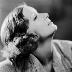 The finger wave style on Greta Garbo.