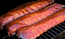 You can cook large cuts of meat in bad weather by trying indirect grilling.
