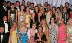 The cast of Guiding Light pose with the Emmy for 'Outststanding Drama Series' during the 34th Annual Daytime Emmy Awards