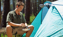 Men fit right in in the great outdoors!
