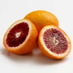 Fresh blood oranges make ghastly garnishes.