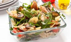 Try increasing the veggie-to-pasta ratio to lighten up your pasta salad.