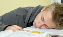 Falling asleep while studying doesn't cut it in terms of the rest you need.