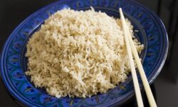 A nice bowl of brown rice will satisfy your daily whole grain requirement.