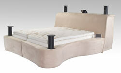 The Starry Night Bed is fully programmable and can be automated with a home's lighting, temperature and music.
