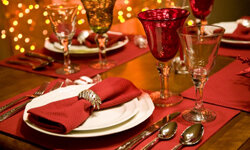 Imagine a holiday where you don't have to cook or clean! See more holiday table settings pictures.