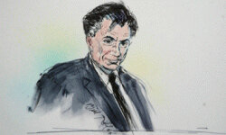 The courtroom sketch: One publicity shot that many celebrities would prefer not to have. This sketch is of Robert Blake, who was on trial for his wife's murder in 2004 and 2005. He was acquitted.