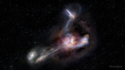 Hungry 'Hot DOG' Eats Nearby Galaxies, Fattens Its Black Hole