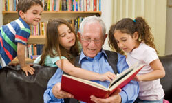 Grandchildren can spend more time with their grandparents when receiving care at home rather than at a nursing facility.