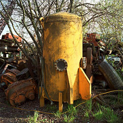 Sometimes damaged military vehicles and other goods like this crazy rocket get left behind by accident.