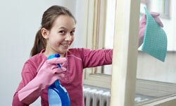 If your kids are game for some serious chores, search out all-purpose cleaning products that are still kid-safe.