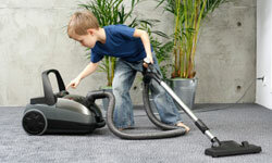 If he's this gung ho over vacuuming, imagine the possibilities with a kid-safe window cleaner!